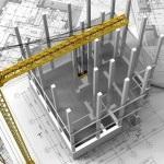 שרטוט של מבנה הרצפה בטרם התקנת מערכת החימום