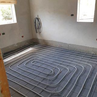 מערכת חימום תת רצפתי על שטח של 197 מ
