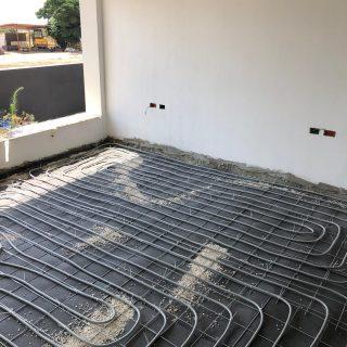 מערכת חימום תת רצפתי על שטח של 140 מ