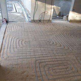 מערכת חימום תת רצפתי על שטח של 230 מ