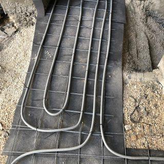 מערכת חימום תת רצפתי על שטח של 127 מ