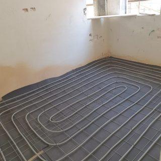 מערכת חימום תת רצפתי על שטח של 235 מ