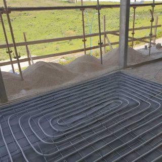 מערכת חימום תת רצפתי על שטח של 202 מ