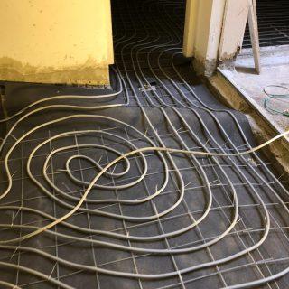 מערכת חימום תת רצפתי על שטח של 280 מ