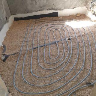 מערכת חימום תת רצפתי על שטח של 101 מ