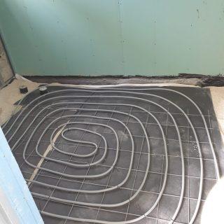 מערכת חימום תת רצפתי על שטח של 289 מ