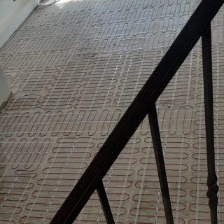 מערכת חימום תת רצפתי על שטח של 87 מ