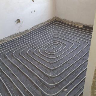 מערכת חימום תת רצפתי על שטח של 150 מ