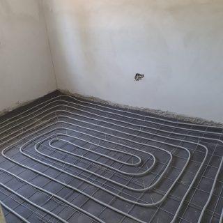 מערכת חימום תת רצפתי על שטח של 137 מ