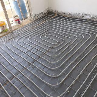 מערכת חימום תת רצפתי על שטח של 123 מ
