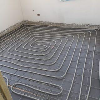 מערכת חימום תת רצפתי על שטח של 130 מ