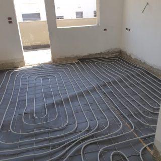 מערכת חימום תת רצפתי על שטח של 154 מ