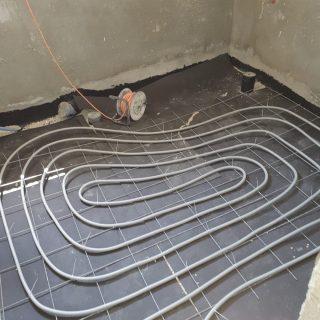 מערכת חימום תת רצפתי על שטח של 145 מ