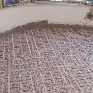 מערכת חימום תת רצפתי על שטח של 68 מ