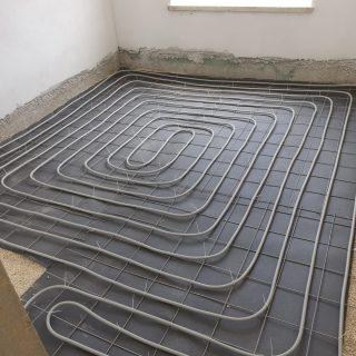 מערכת חימום תת רצפתי על שטח של 125 מ