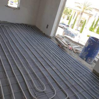 מערכת חימום תת רצפתי על שטח של 340 מ