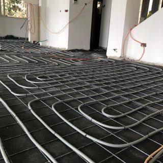 מערכת חימום תת רצפתי על שטח של 100 מ