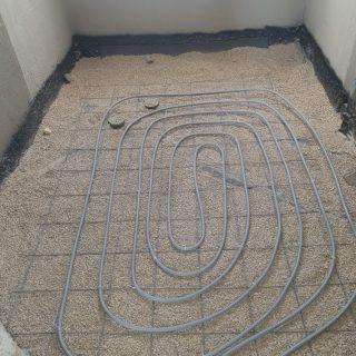 מערכת חימום תת רצפתי על שטח של 156 מ