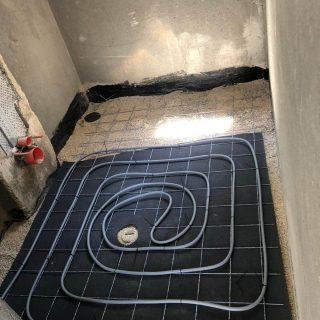מערכת חימום תת רצפתי על שטח של 62 מ