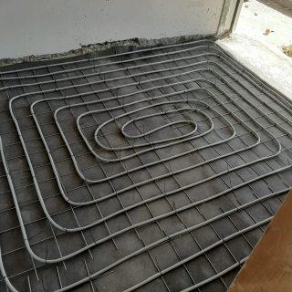 מערכת חימום תת רצפתי על שטח של 165 מ