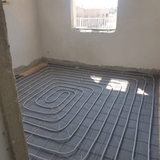 מערכת חימום תת רצפתי על שטח של 135 מ