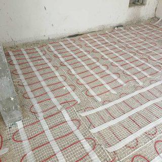 מערכת חימום תת רצפתי על שטח של 65 מ