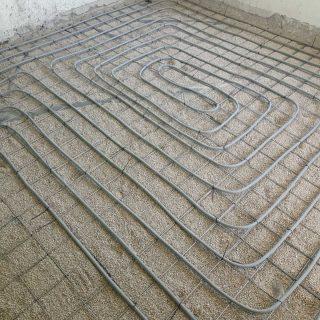 מערכת חימום תת רצפתי על שטח של 144 מ