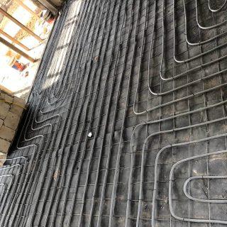 מערכת חימום תת רצפתי על שטח של 142 מ